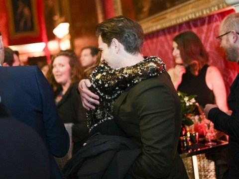 Andrew Garfield shares a big hug with ex-girlfriend Emma Stone at Baftas party
