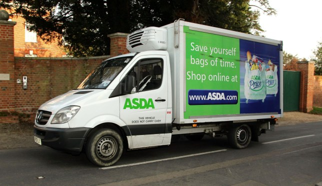 """File photo dated 25/03/12 of an Asda delivery van, as the supermarket has apologised to customers and taken """"immediate action"""" to improve standards across its home shopping services after a whistleblower raised concerns about poor hygiene."""