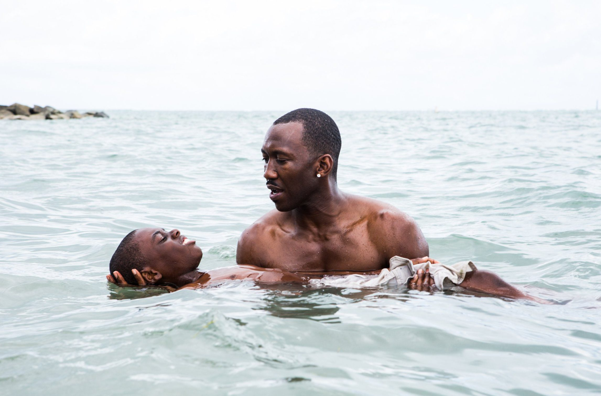 No Merchandising. Editorial Use Only. No Book Cover UsagenMandatory Credit: Photo by David Bornfriend/REX/Shutterstock (7734188a)nAlex R. Hibbert, Mahershala Alin'Moonlight' Film - 2016nn
