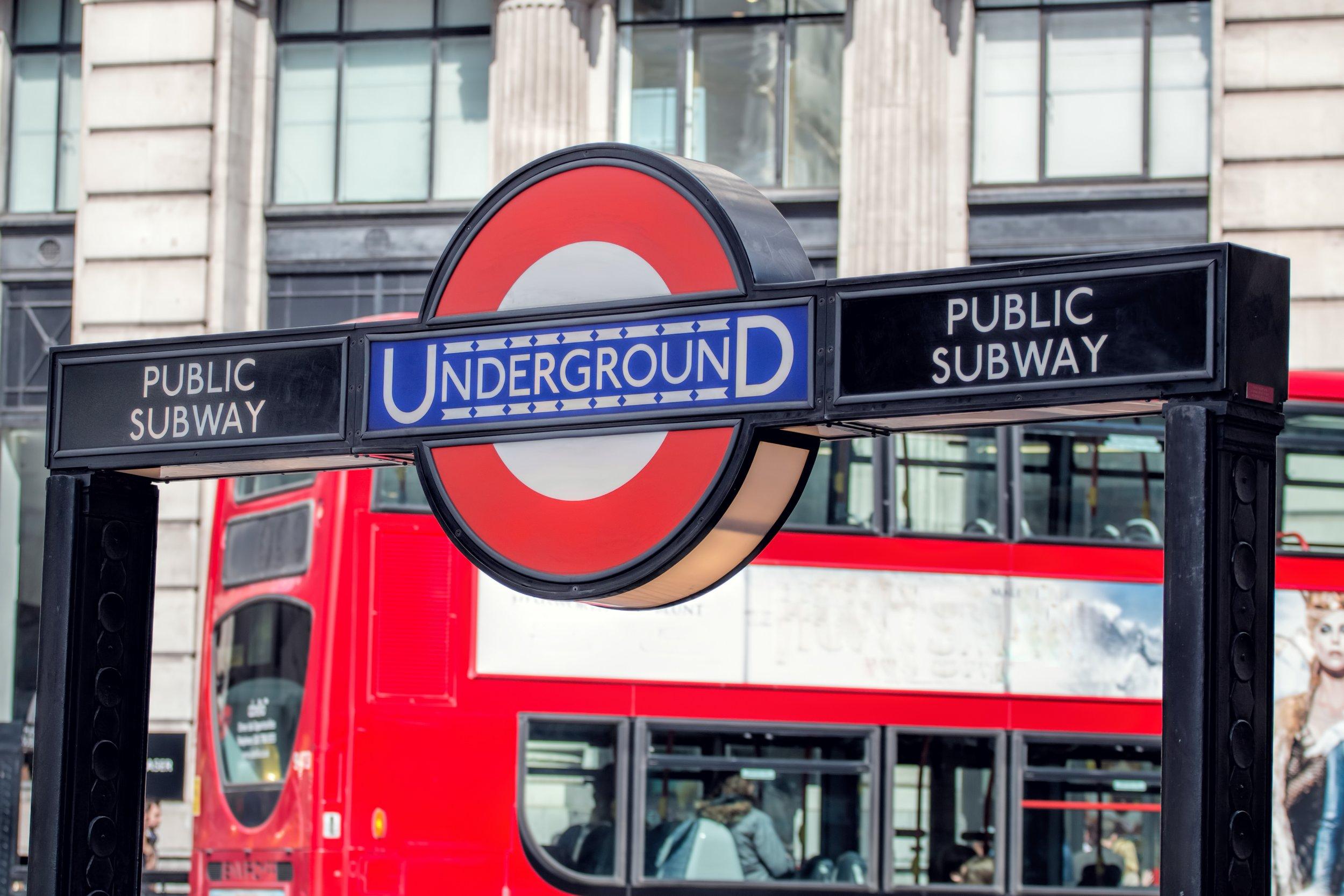 LONDON - MARCH 31, 2016: London Underground Subway Station Sign. TFL Tube Badge.; Shutterstock ID 400892746