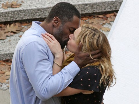 Just Kate Winslet and Idris Elba sharing a kiss on the set of their slushy new disaster movie