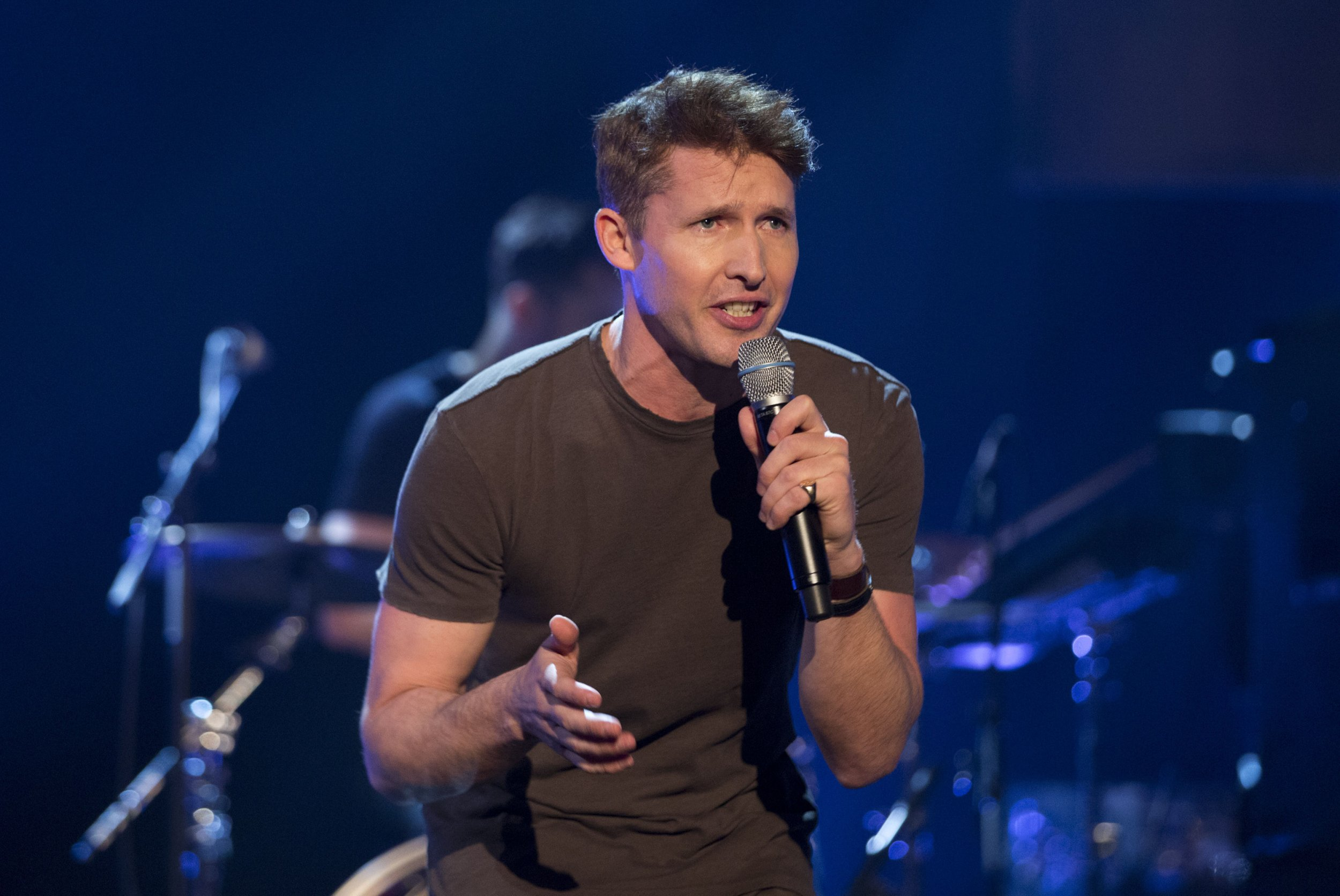James Blunt performing during filming of the Graham Norton Show at The London Studios. PRESS ASSOCIATION Photo. Picture date: Wednesday February 22, 2017. Photo credit should read: PA Images on behalf So TV