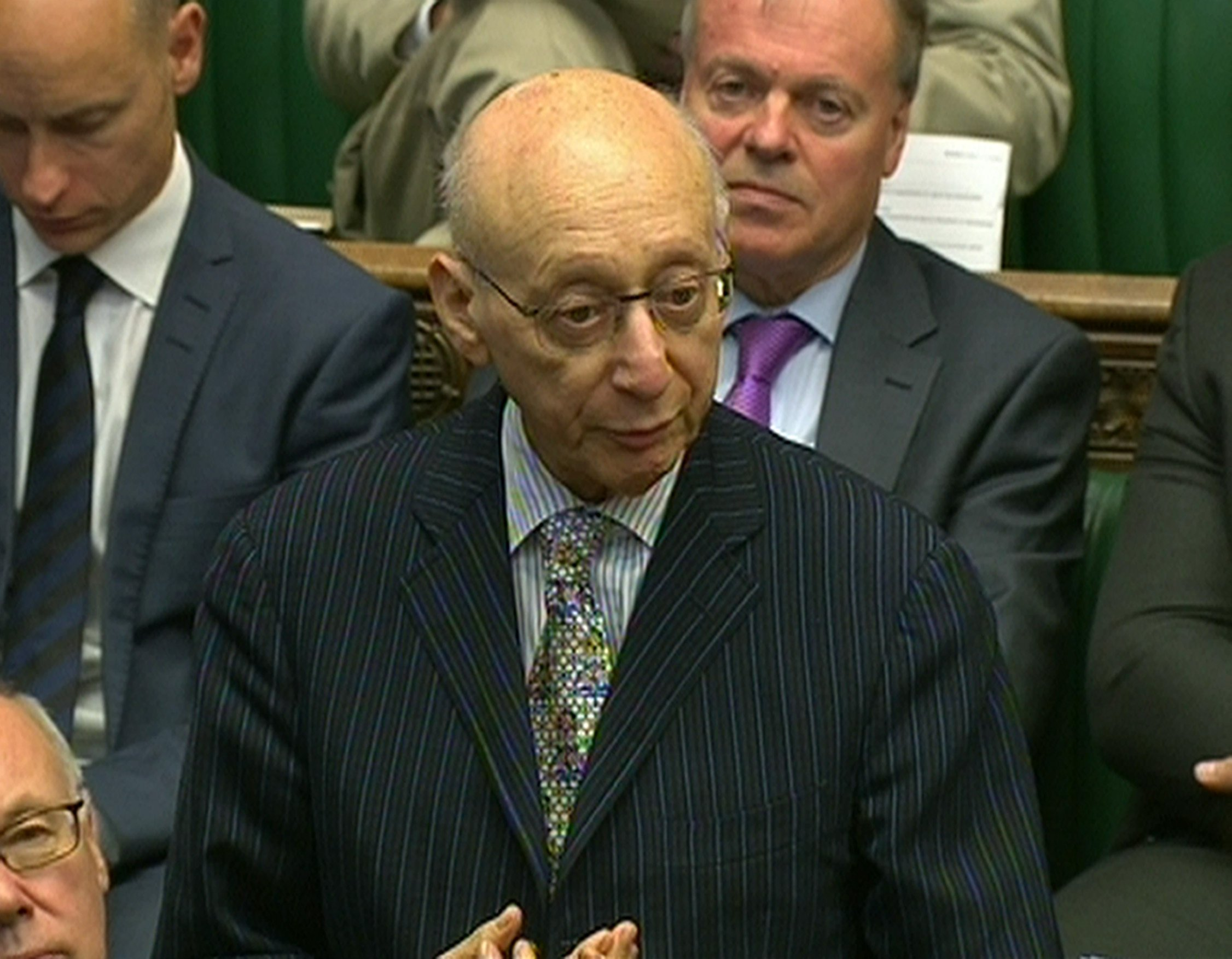 File photo dated 03/06/2015 of Gerald Kaufman in the House of Commons. The Labour MP for Manchester Gorton and Father of The House of Commons, has died aged 86, a family spokesman said. PRESS ASSOCIATION Photo. Issue date: Sunday February 26, 2017. See PA story DEATH Kaufman. Photo credit should read: PA Wire