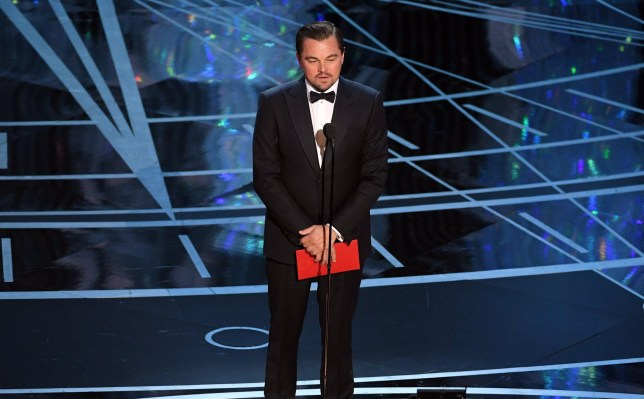 HOLLYWOOD, CA - FEBRUARY 26: Actor Leonardo DiCaprio speaks onstage during the 89th Annual Academy Awards at Hollywood & Highland Center on February 26, 2017 in Hollywood, California. (Photo by Kevin Winter/Getty Images)