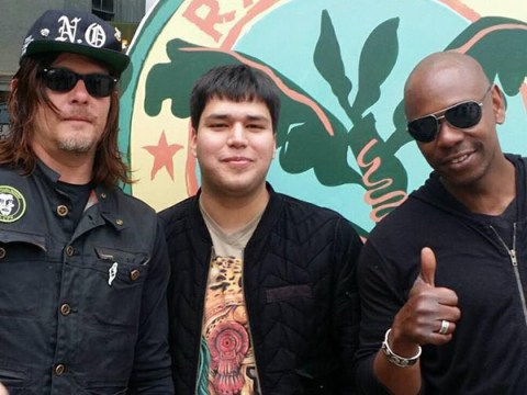 Just The Walking Dead's Norman Reedus hanging out with Dave Chappelle