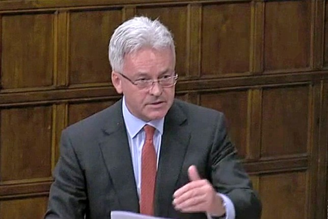 Alan Duncan. MPs debating in Westminster Hall, central London, e-petitions relating to state visit to the UK by US President Donald Trump. (Picture: parliamentlive.tv)