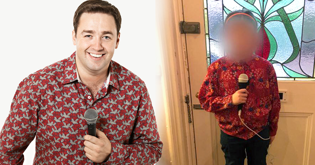 Proud dad Jason Manford shares picture of his daughter dressed as him for Superhero Day