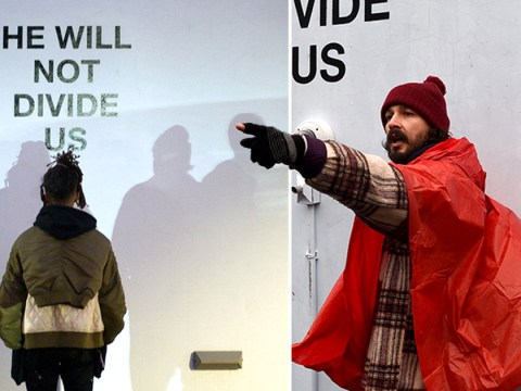 Unprecedented 'violence' sees Shia LaBeouf's Trump protest project shut down and he's not happy about it