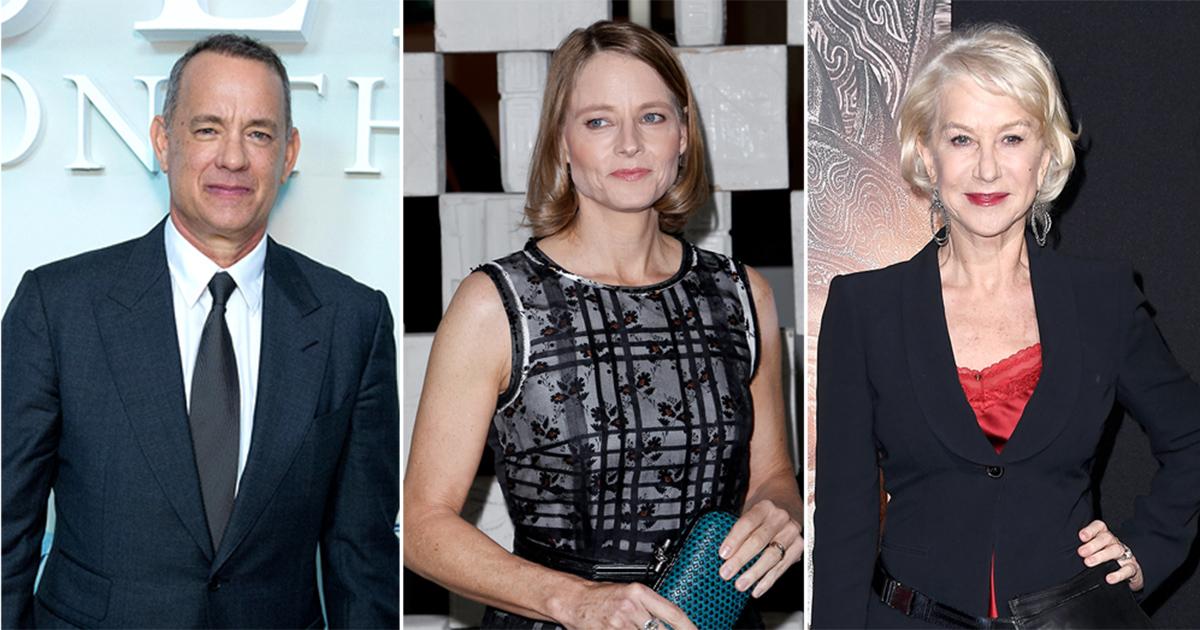 Tom Hanks, Jodie Foster and Helen Mirren voted greatest award winners of last 50 years