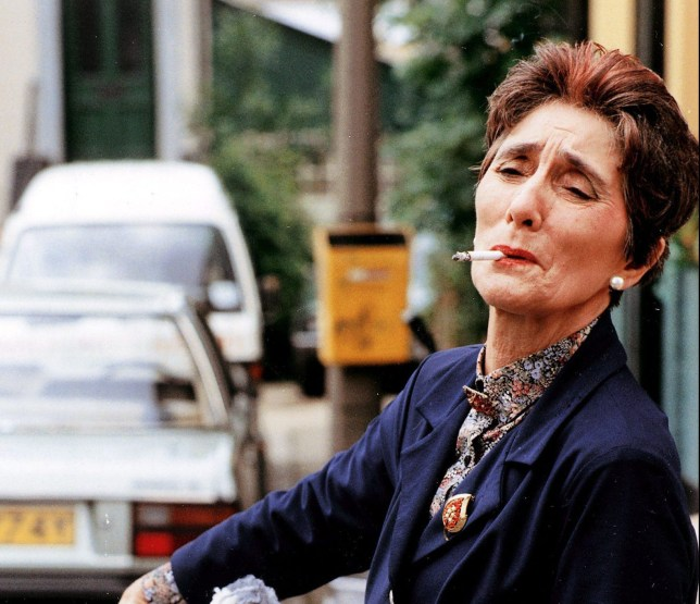 Television Programmes: Eastenders Actress June Brown As Dot Cotton In Television Programme Eastenders.