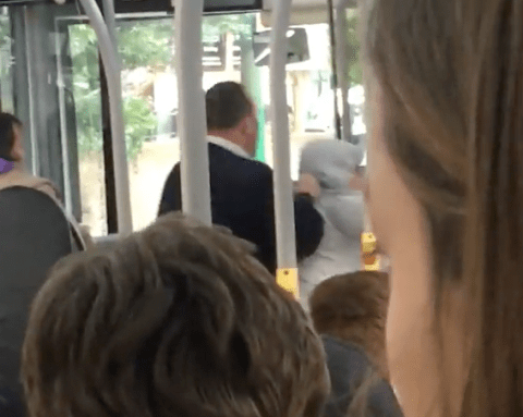 Bus driver gets standing ovation for throwing abusive passenger off bus