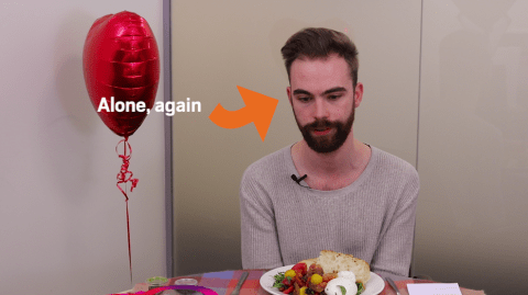 I ate a romantic meal for two by myself this Valentine's Day because I'm so alone
