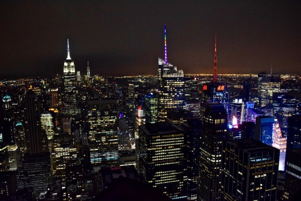 New York at night from Top of the Rock (Picture: Chloe Gunning)