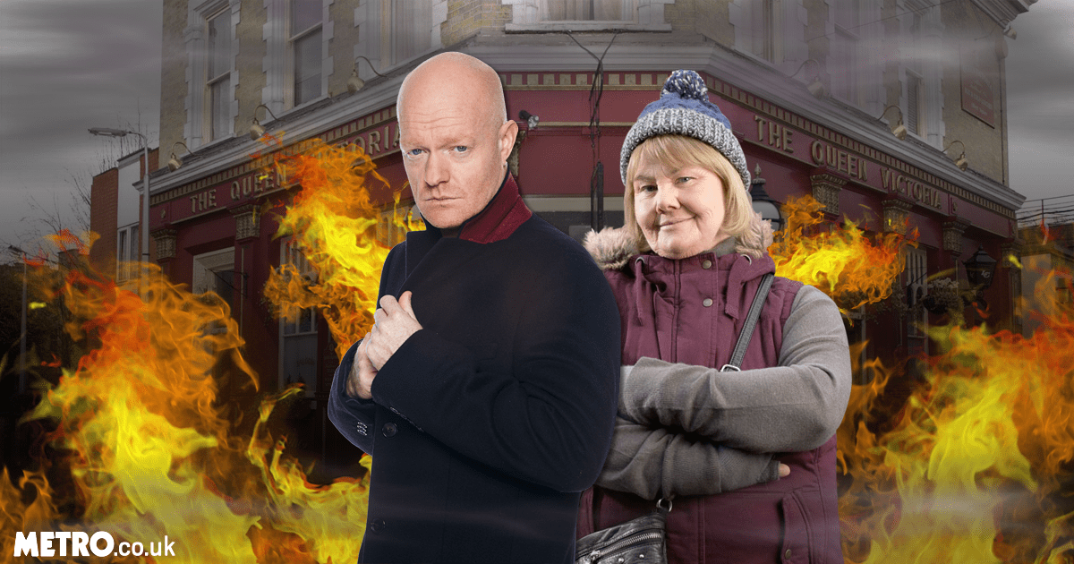 (Picture: BBC/ Metro) Aunt Babe and Max team up to burn down the Vic in EastEnders