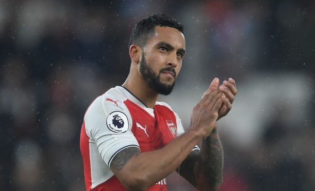 LONDON, ENGLAND - JANUARY 31: Theo Walcott of Arsenal claps the fans after the Premier League match between Arsenal and Watford at Emirates Stadium on January 31, 2017 in London, England. (Photo by David Price/Arsenal FC via Getty Images)
