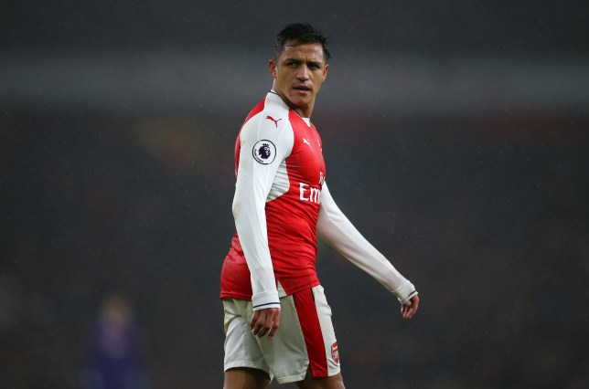 LONDON, ENGLAND - JANUARY 31: Alexis Sanchez of Arsenal during the Premier League match between Arsenal and Watford at Emirates Stadium on January 31, 2017 in London, England. (Photo by Catherine Ivill - AMA/Getty Images)