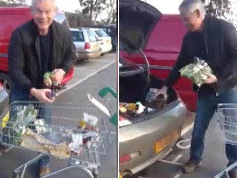 Martin Clunes doesn't GAF as he sparks row over parking in a motorbike space
