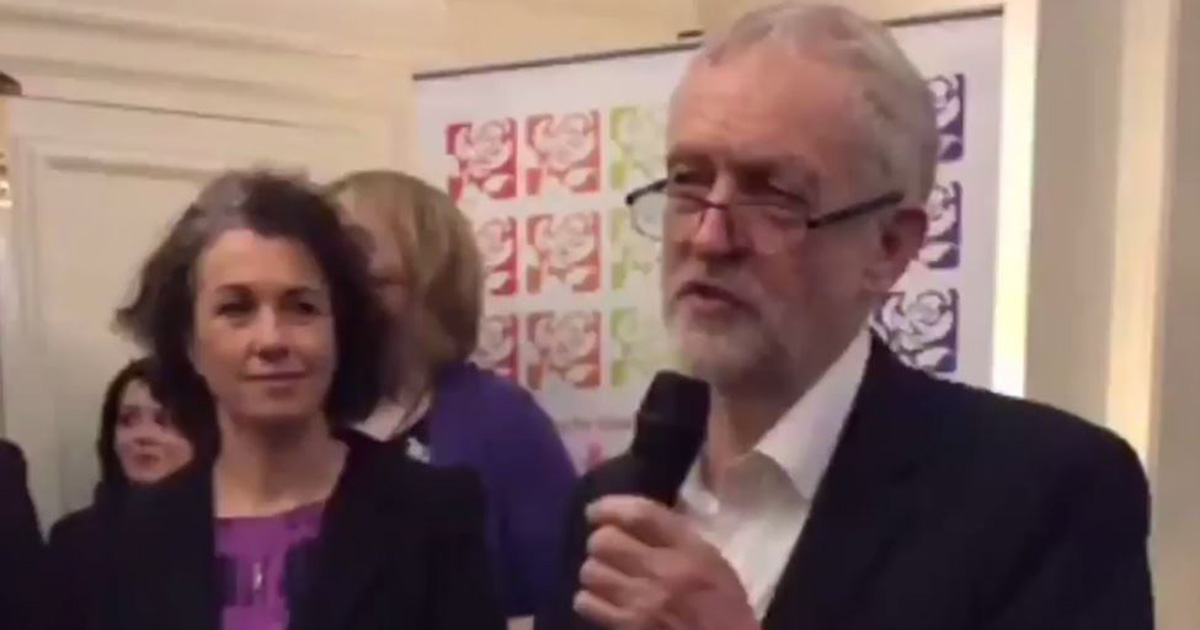 (Picture: Twitter/ Ethan LDN) Jeremy Corbyn causing offence by saying people 'chose to be gay'
