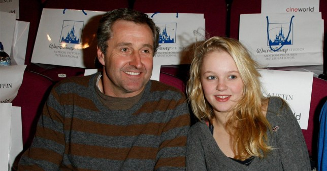 Mark Austin with his daughter (Madeleine) attend the VIP screening of 'Bolt', at the Cineworld Haymarket on February 1, 2009 in London, England. (Photo by Dave M. Benett/Getty Images)