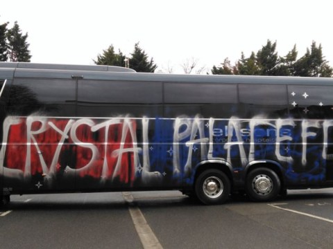 Crystal Palace fans accidentally vandalise their own team bus in embarrassing mix up