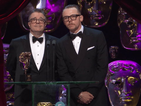This is the Hitler joke Simon Pegg made at the 2017 BAFTAs