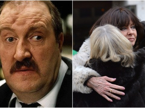 Stars turn out  as 'Allo 'Allo! star Gorden Kaye is laid to rest following death at 75