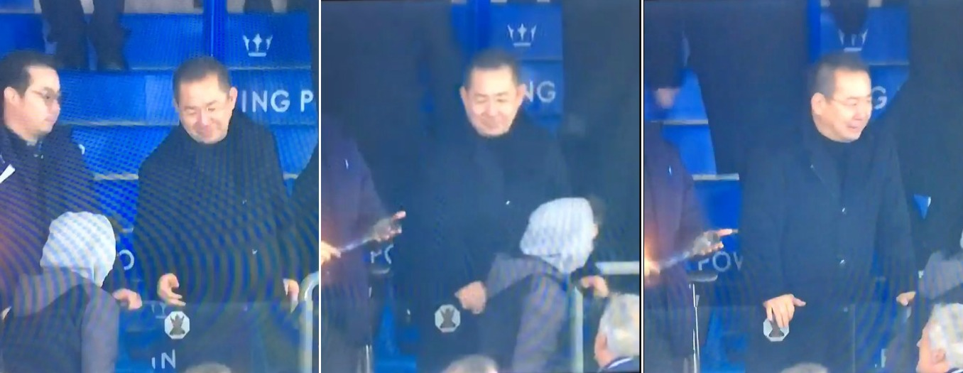 Leicester City fan pays ultimate respect to Claudio Ranieri by pieing off chairman after Liverpool clash