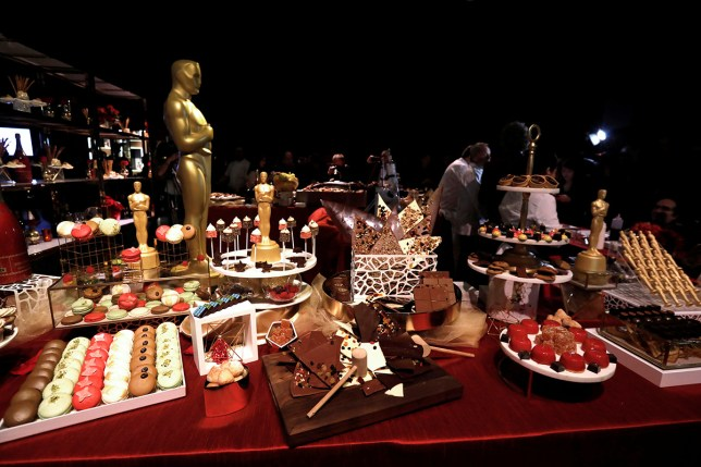 A variety of desserts are pictured during a preview of the food and decor for the 89th Academy Awards' Governors Ball at the Ray Dolby ballroom in Los Angeles, California U.S., February 16, 2017. REUTERS/Mario Anzuoni - RTSZ26J