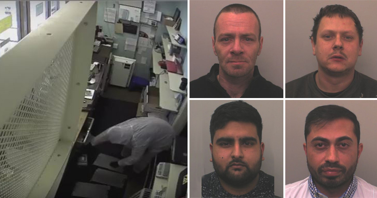 Postmaster who was 'chloroformed by armed thugs' is jailed for staging the £185,000 raid