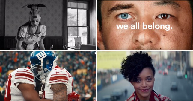 Super Bowl ads went very political (Picture: It's A 10, AirBnB, NFL, Coca Cola)
