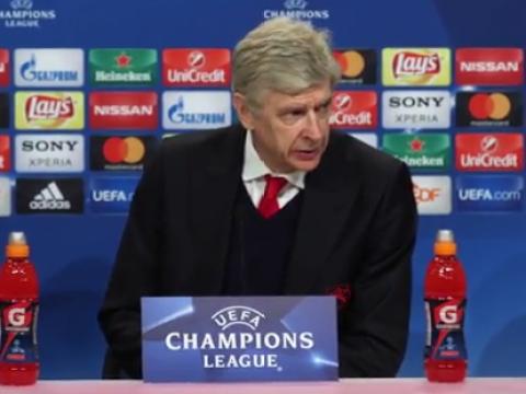 Dejected Arsene Wenger speaks to media for just 2:42 minutes after Bayern Munich thrashing