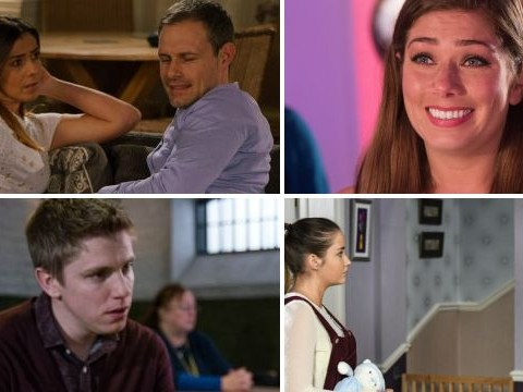 12 soap spoiler pictures: Coronation Street return, EastEnders danger, Emmerdale sex shock, Hollyoaks death mystery