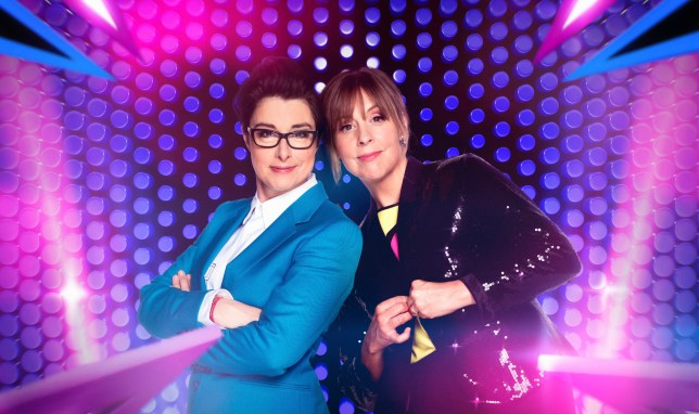 WARNING: Embargoed for publication until 00:00:01 on 23/02/2017 - Programme Name: Let's Sing and Dance For Comic Relief - TX: 04/03/2017 - Episode: n/a (No. n/a) - Picture Shows: ** Strictly Embargoed until 00:00:01 23/02/2017 ** Sue Perkins, Mel Giedroyc - (C) BBC - Photographer: David Venni