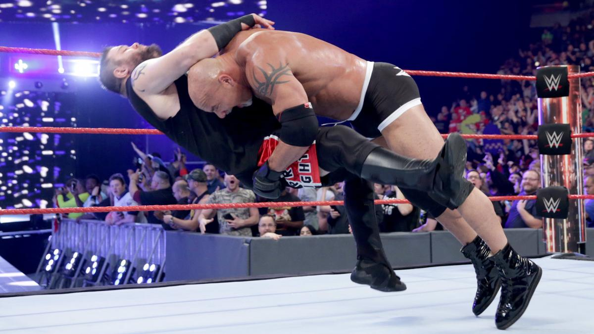 Goldberg spears Kevin Owens (Picture: WWE)