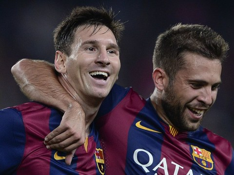 Manchester United's advances for Jordi Alba will be blocked by Lionel Messi