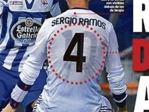 Sergio Ramos wore a Mesut Ozil jersey under his own at Real Madrid