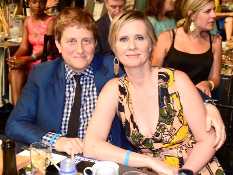 Cynthia Nixon says she'd never kissed a woman before meeting her wife