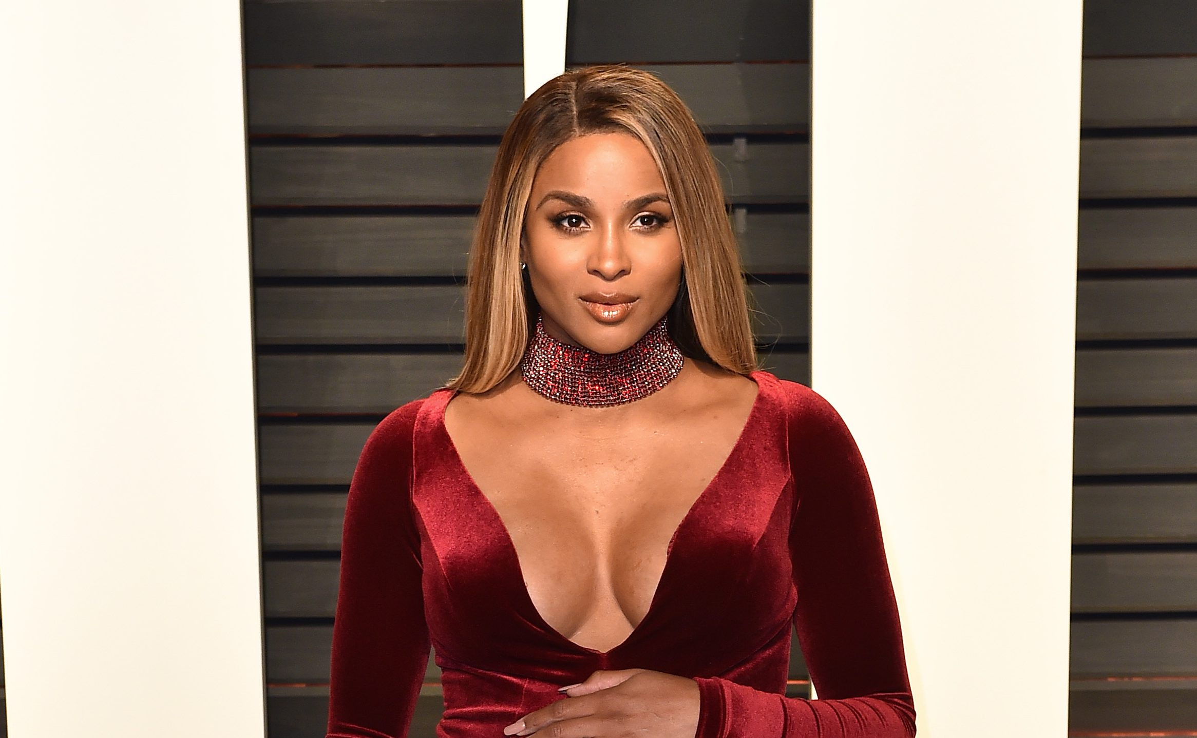 Pregnant singer Ciara involved in car crash when SUV 'slammed' into her vehicle
