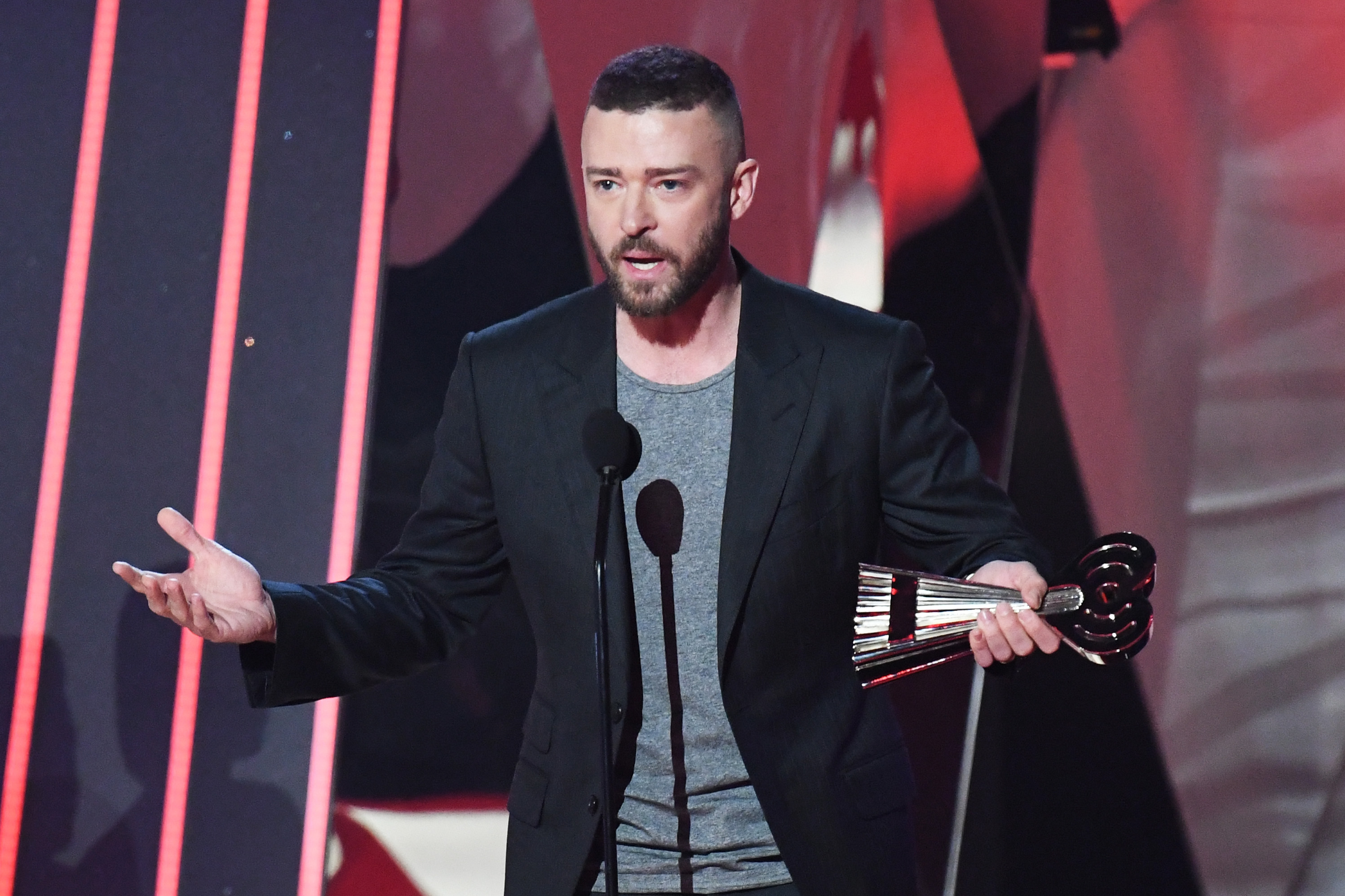 Justin Timberlake used his Song Of The Year acceptance speech at the iHeartRadio Music Awards to share a message about equality (Picture: FilmMagic)