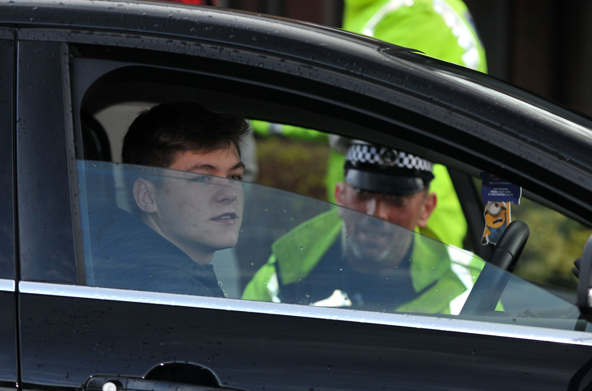 KERRY DAVIES/PICTURE DAILY MAIL 1/3/2017. Picture shows:A 19 year old lad faces his licence being revoked after getting caught this morning at a police check point in Abingdon. Police stop motorists in Abingdon Oxfordshire for mobile phone offences on the day new tougher punishments come into force for those caught driving and using a mobile phone.Drivers now face a £200 fine and 6 points on their licence.