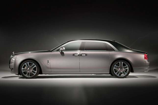 Diamond Rolls-Royce Rolls-Royce Ghost Elegance, the first luxury motor car to be finished in a paint created from diamonds (Picture: Rolls-Royce)