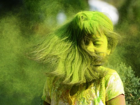Flying colours: The Holi festival in pictures