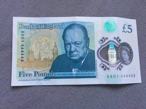 New five pound note sells for £60,100 on eBay