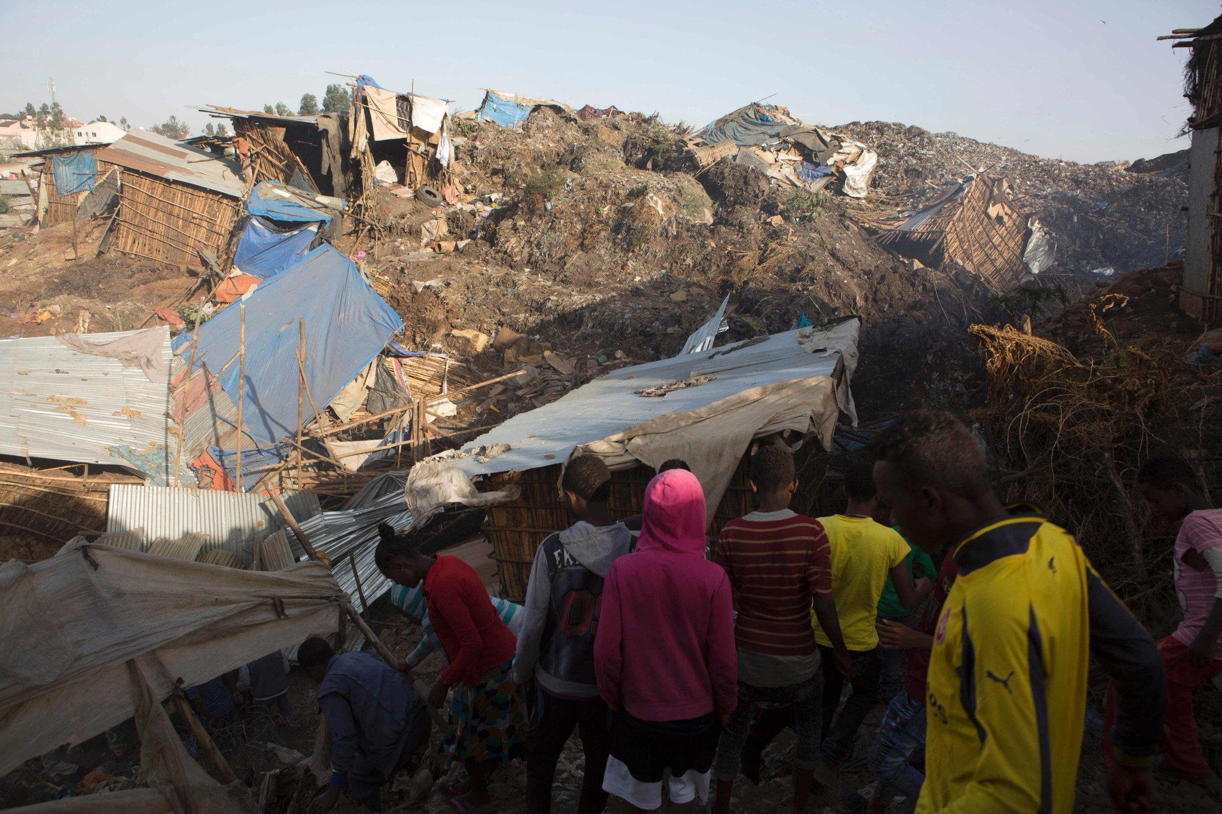 At least 46 killed in huge landslide of rubbish