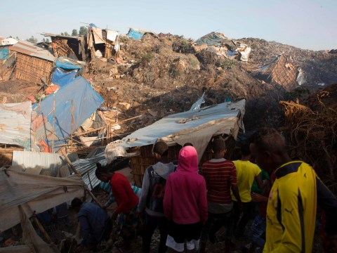 At least 46 killed in huge landslide of rubbish