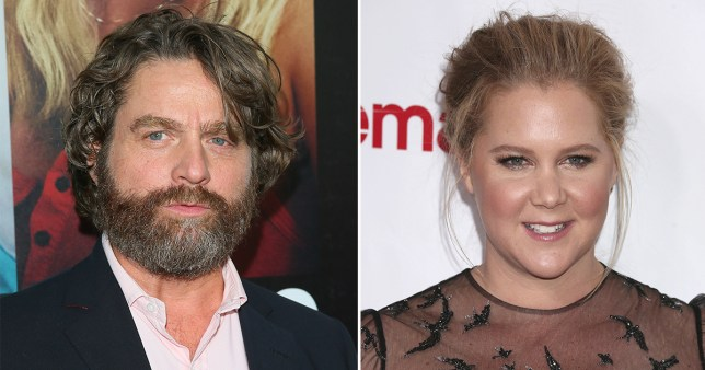 Amy Schumer has been accused of stealing jokes again, this time from Zach Galifianakis (Picture: WireImage/Fameflynet)