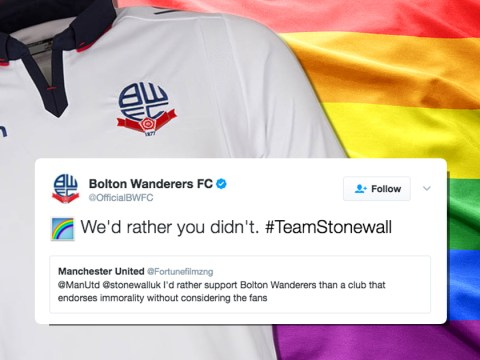 Homophobic football fan gets put in his place by rival club