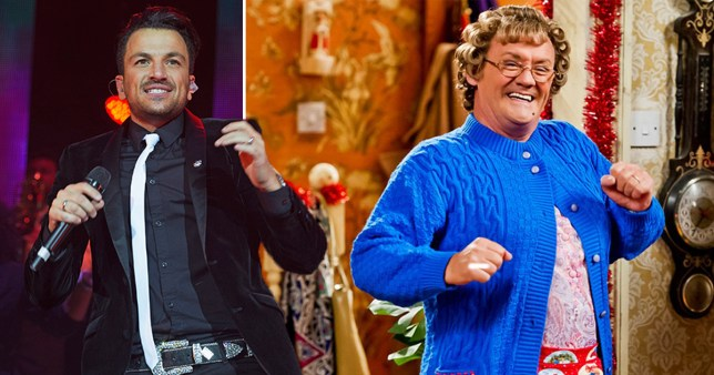 Peter Andre has told fans he is making a cameo on Mrs Brown's Boys (Picture: Getty/BBC)