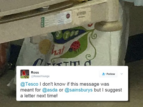 Man trolls Tesco after spotting 'rude message' on Bag For life