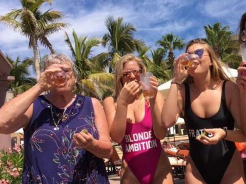 Girl's nan becomes an icon after posting photos of herself downing shots in Mexico